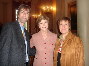 Spider, Jeanne and Laura Bush